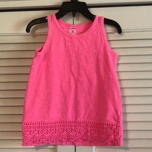 Carter's tank with lace detail 3t